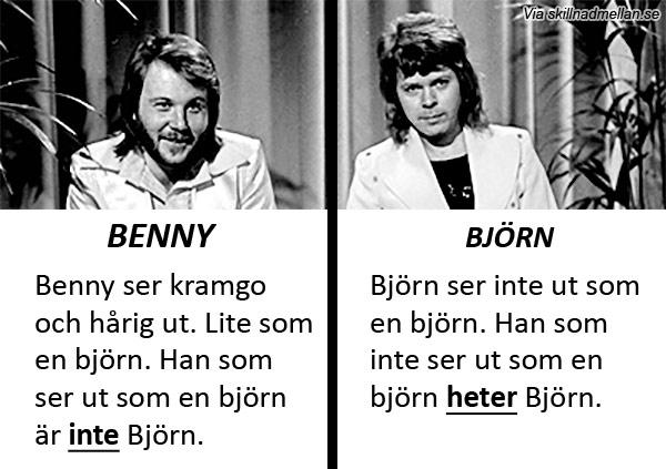 Skillnaden mellan Björn och Benny