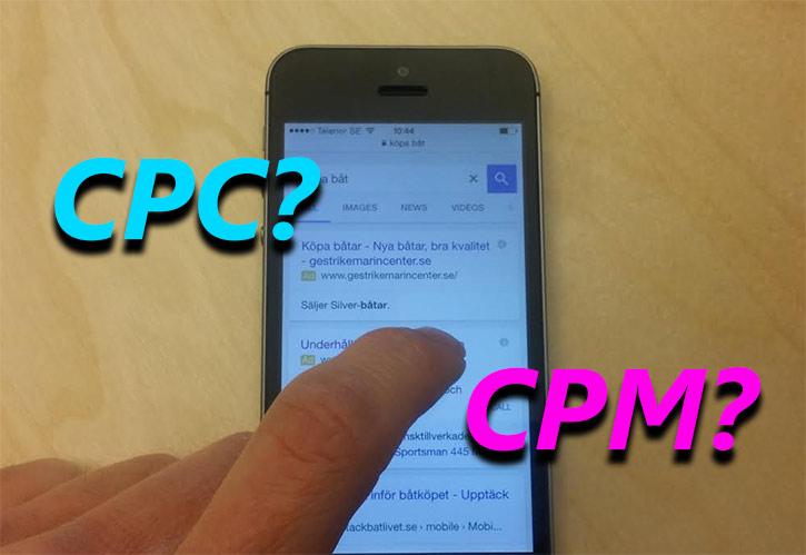 Skillnaden mellan cpc och cpm